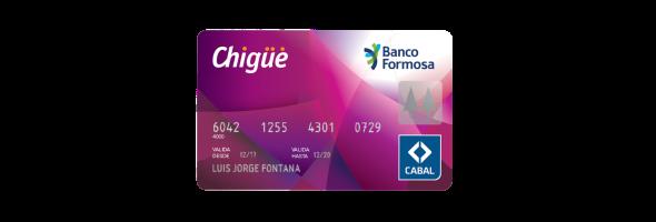 Tarjeta Chigüé Cabal